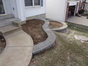 Garden Retaining Wall After