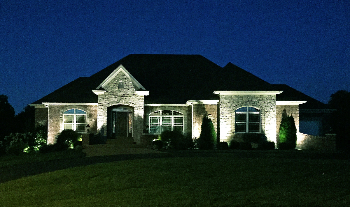 Exterior Lighting at Night