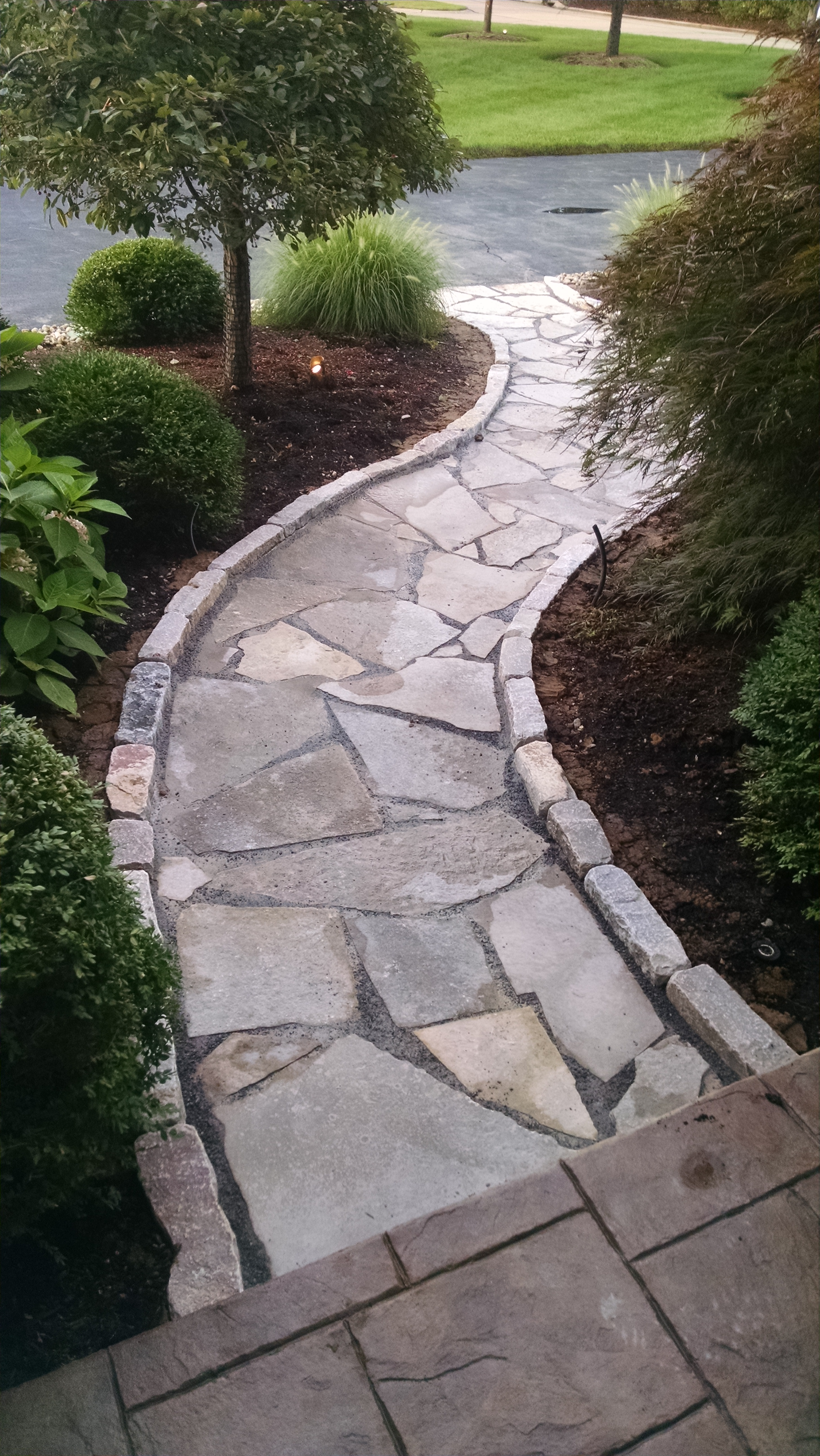 Stone walkway lawn systems inc Natural stone walkways
