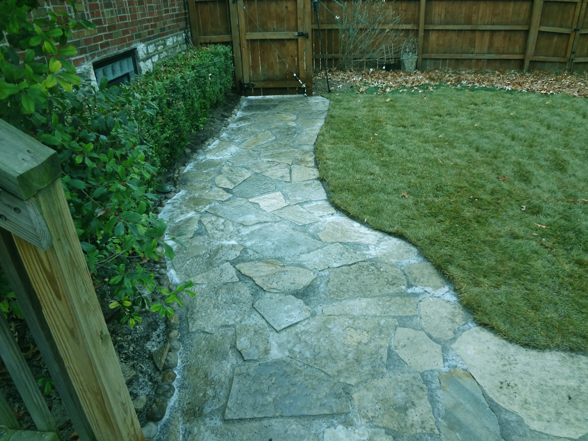 Natural stone walkway lawn systems inc Natural stone walkways