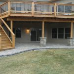 Paver Patio and Wooden Deck