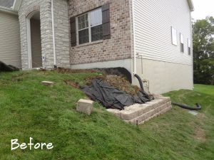 Side of House Before