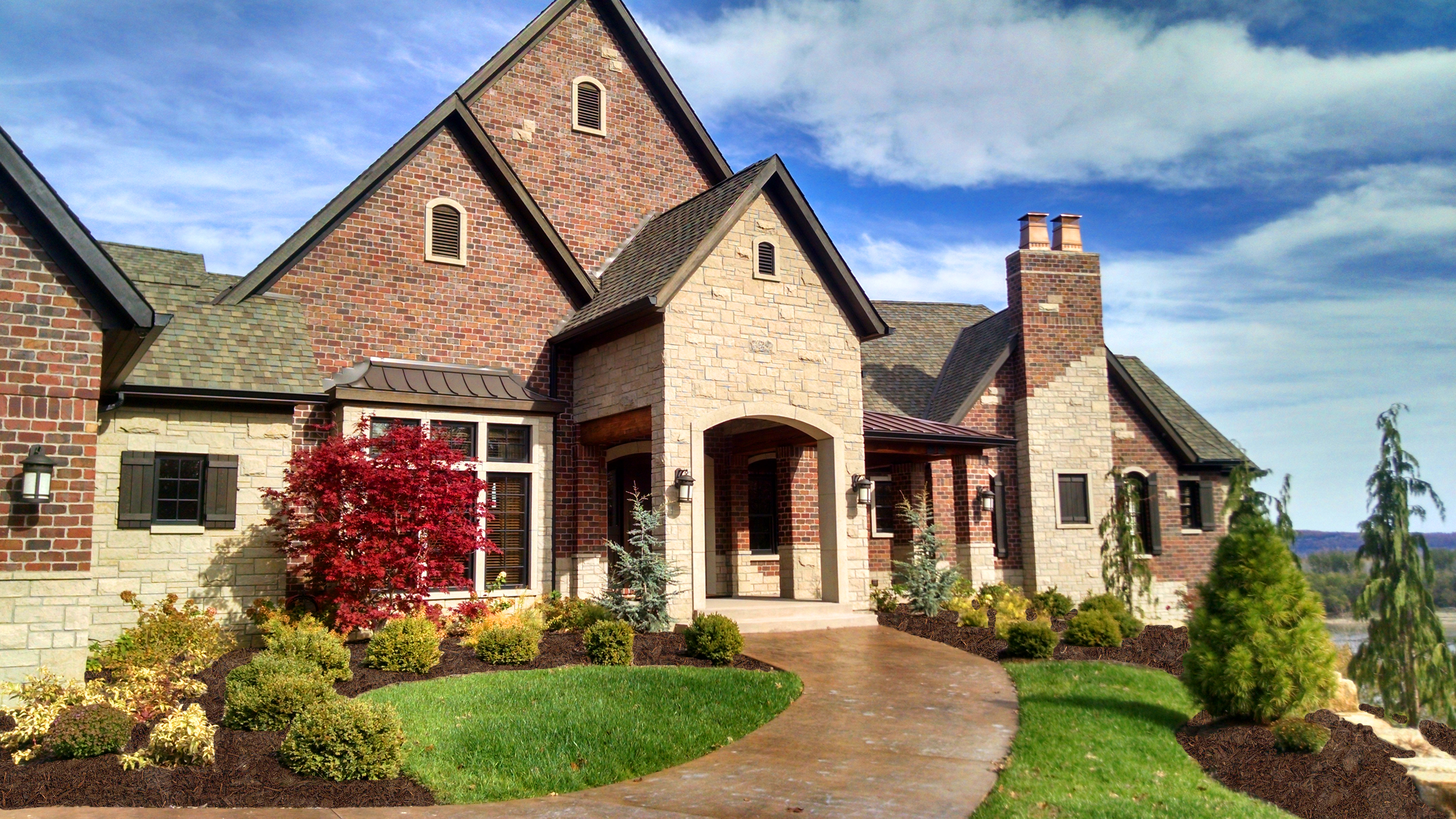 Brick House with Beautiful Front Yard