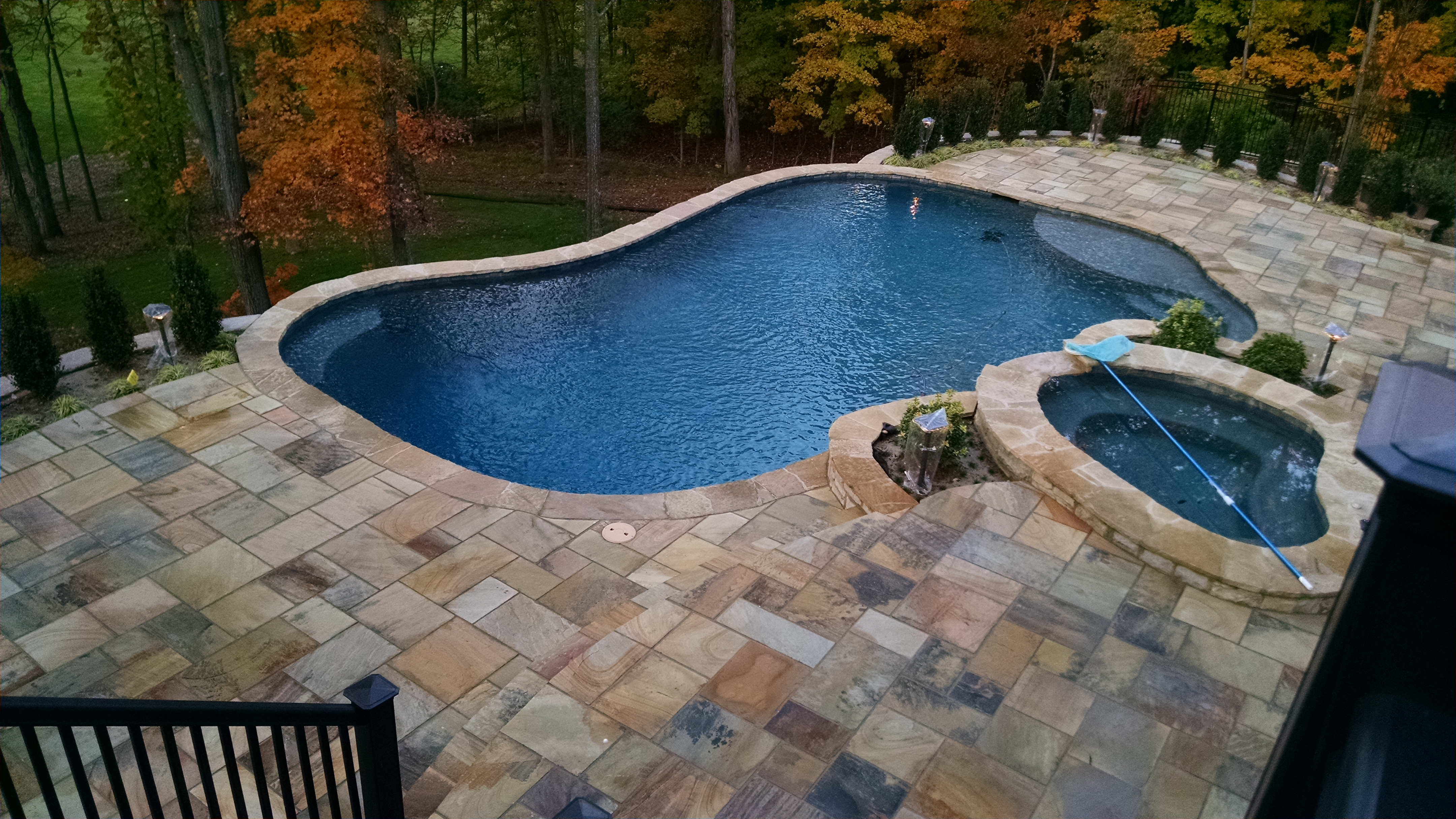 Paver Patio and Swimming Pool