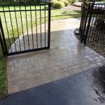 Paver Walkway and Black Gate